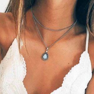 Jewelry - Boho stone multi layer necklace